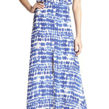 White and blue maxi dress – Made In The USA