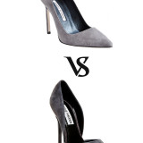 Gray Suede Pumps – Manolo  Blahnik  vs Steve Madden